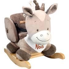 fauteuil à bascule pour bébé personnalisé noa le cheval