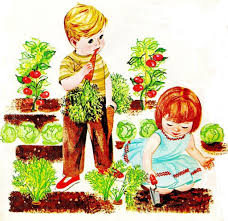 Family In The Garden Children Playing In The Garden Clipart Cliparting Com