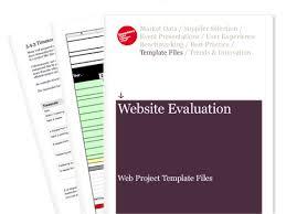 website evaluation report template website evaluation web project template files econsultancy