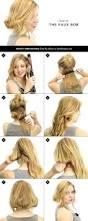 how to make long hair short faux bob hair tutorials pretty designs