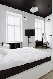 Black And White Wall Decor For Bedroom Interior Black Bedroom Ceiling Pendant Lamp White Wall Glass