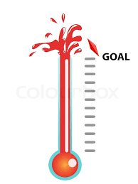 goal thermometer stock vector colourboxthermometer template