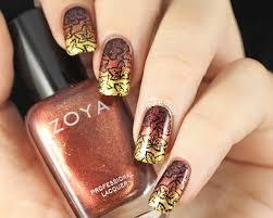 fall inspired nail designs