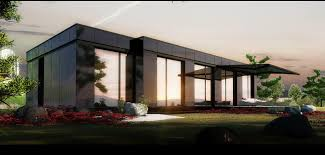 elegant nice design cheapest modular homes with wooden fence on