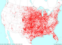 tornado map shook enb 150 united states tornado reports from 1950 2004 map