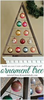 build an easy ornament display tree remodelaholic