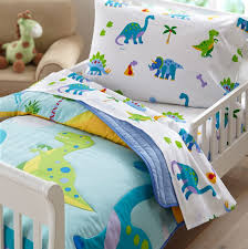 Toddler Train Bed Set by Dinosaur Toddler Bedding Baby And Kids