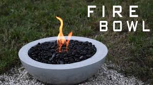 how to make a concrete fire bowl gel fuel youtube