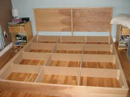 free king size bed frame plans with storage