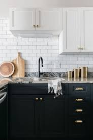black bottom and white top kitchen cabinets white top cabinets black bottom cabinets design ideas