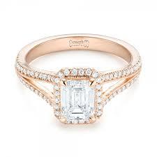 engagement ring gold custom gold diamond halo engagement ring 102875