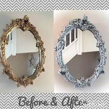 Vintage White Bedroom Mirrors Vintage Oval Mirror Painted In Annie Sloan Paris Grey U0026 Dry