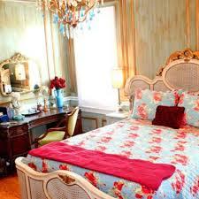 astounding shabby chic blue and orange bedroom decoration
