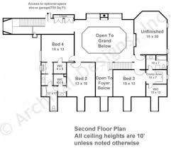 2nd floor house plan deerfield southern floor plans luxury house plans
