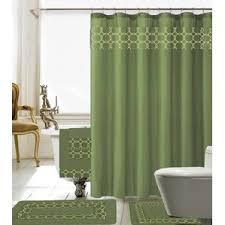 Shower Curtain Matching Window Curtain Set Green Shower Curtains You U0027ll Love