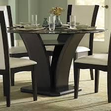 solid wood round espresso dining table how to decorate with a