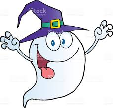 scary halloween ghost cartoon character stock vector art 137206465