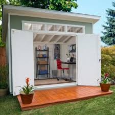 Backyard Office Building Diy How To Build A Shed Door Decks Transom Windows And Costco