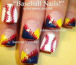 easy nail art for beginners baseball nails diy tutorial youtube