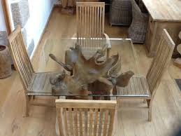 teak root dining table base 1 2m square teak root dining table made from a real teak tree root
