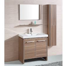 white resin 31 inch single sink bathroom vanity with matching