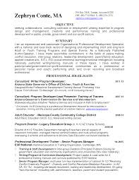 Trainer Resume Example Sample Resume Zumba Instructor Augustais