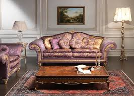 classic furniture design classic violet sofa imperial and carved table vimercati classic