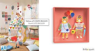 tableau pour chambre d enfant chats et ballons tableau pour chambre d enfant big room