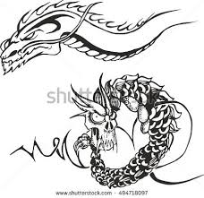 two dragon black drawings stock images royalty free images