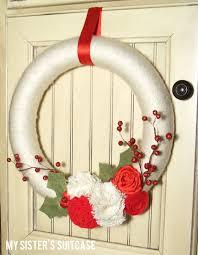 handmade gift christmas yarn wreath my sister u0027s suitcase
