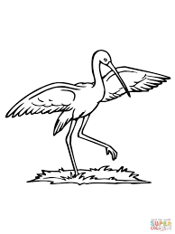 stork dance coloring page free printable coloring pages
