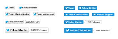 buttons designen a new design for tweet and follow buttons announcements