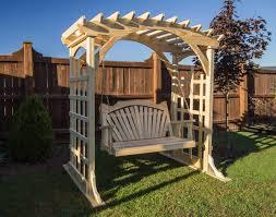 Pergola Swings Treated Pine Fanback Porch Swing