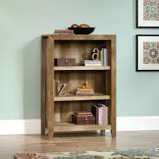 sauder dakota pass 3 shelf bookcase craftsman oak finish