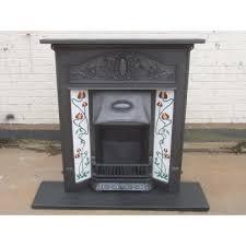 Fireplace Canopy Hood by 216 Art Nouveau Original Antique Cast Iron Edwardian Victorian