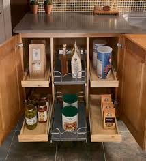 Kitchen Cabinet Spice Organizers by Pull Out Spice Rack Wood Cabinet Storage With Marble Countertop