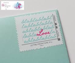 timbre personnalisã mariage timbre personnalisé par la belette pour withalovelikethat