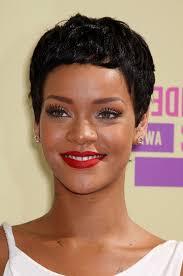 boycut hairstyle for blackwomen rihanna short black curly boy cut for black women styles weekly