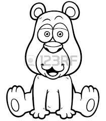 illustration cartoon brown bear royalty free cliparts vectors