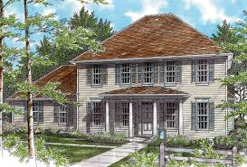 federal style plan with high ceilings 69283am architectural