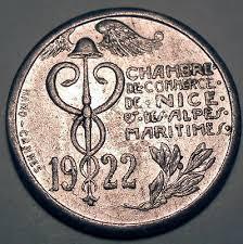 chambre de commerce alpes maritimes 10 centimes 1922 chambre de commerce de et des alpes
