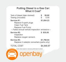 Auto Engine Repair Estimates by Diesel In Gas Engine Repair Costs Alternative Solutions