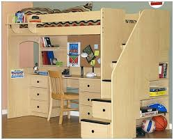 How To Make A Bunk Bed With Desk Underneath by Loft Bed With Desk And Storage Plans Storage Decorations