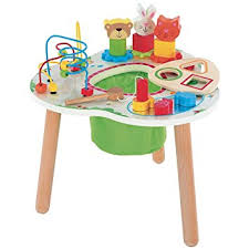 wooden activity table for elc wooden activity table amazon co uk baby