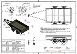 tandem box trailer plan trailer plans designs and drawings