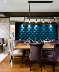 dining room banquette dining room contemporary with blues candice