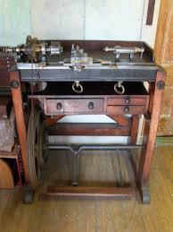 2581 385 antique goyen ornamental turning lathe circa 1871 with