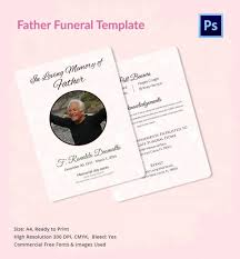 funeral program template 10 free word psd format download