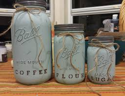 chalk painted shabby chic canister set kitchen canisters