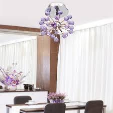lightinthebox 6 light floral shape k9 crystal ceiling light purple